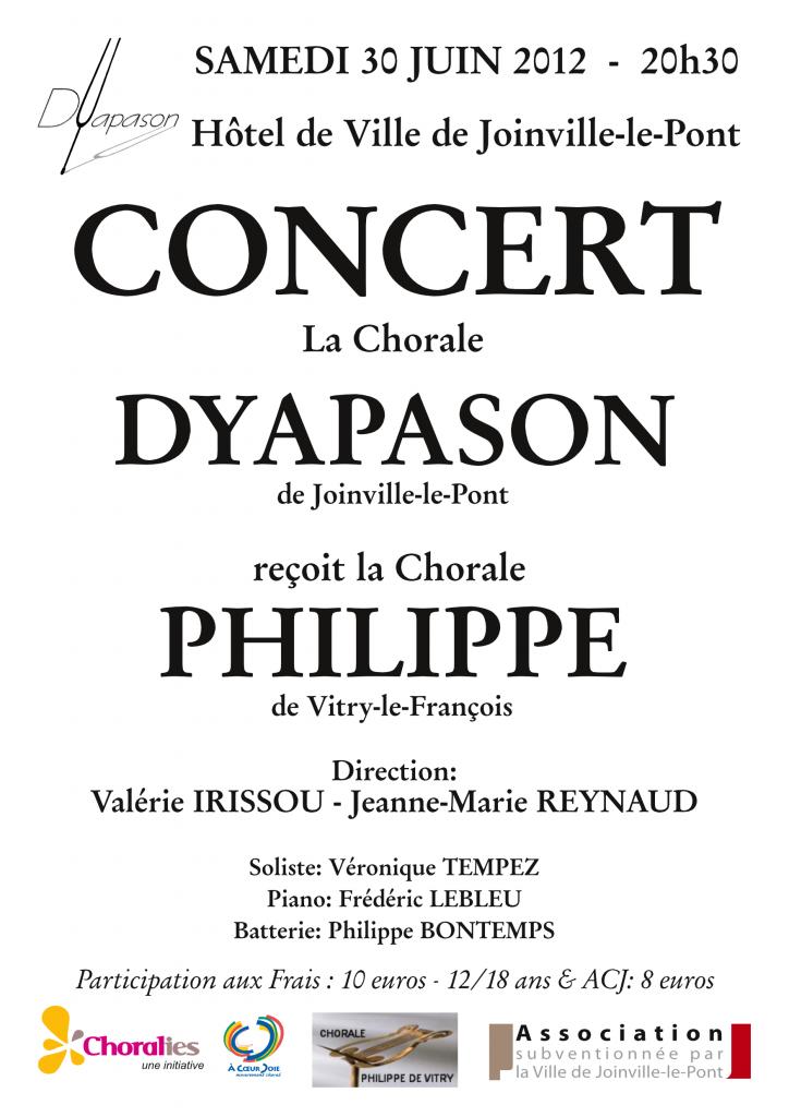 Affiche concert Juin 2012