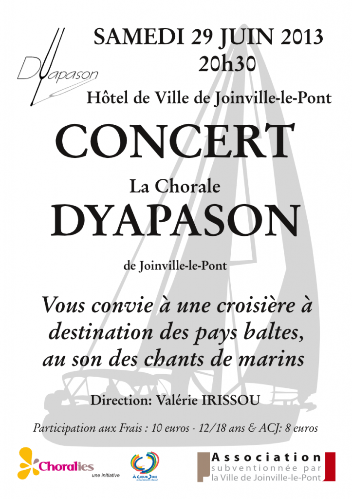 Affiche de concert de Juin 2013