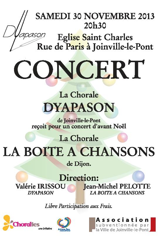 Affiche de concert de Novembre 2013